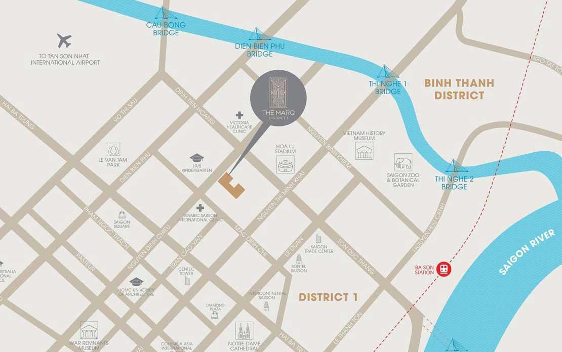 địa chỉ căn hộ chung cư The Marq 29B đường Nguyễn Đình Chiểu